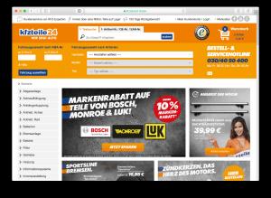 kfzteile24 Homepage