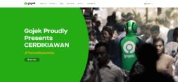 Gojek Webseite